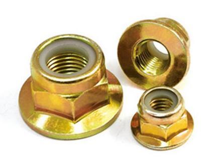 Titanium Gr2 Gr5 Hex Flange Nut Nylon Insert Lock Nut